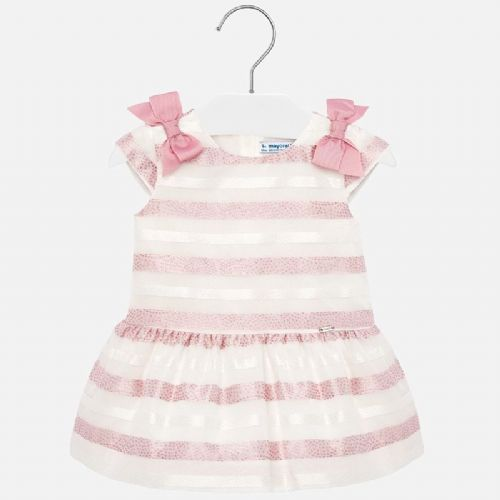 PInk Stripe Dress with Bows